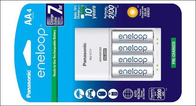 Pile AA rechargeable Panasonic Eneloop