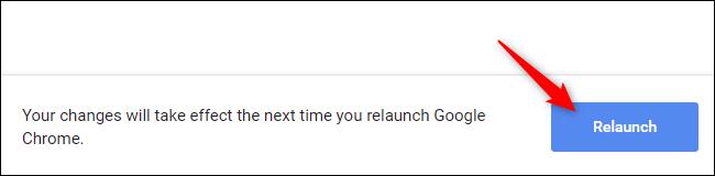 """Clique le """"Relancer"""" bouton dans Chrome."""