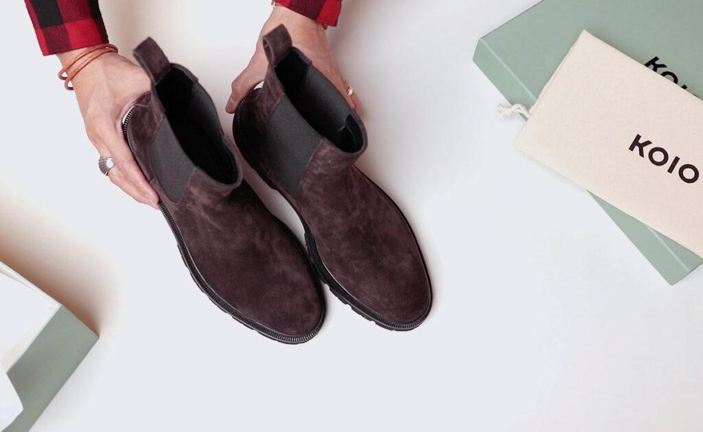 bottines chelsea koio forme des orteils de haut en bas