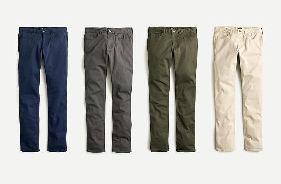 484 Pantalon chino stretch cinq poches slim-fit