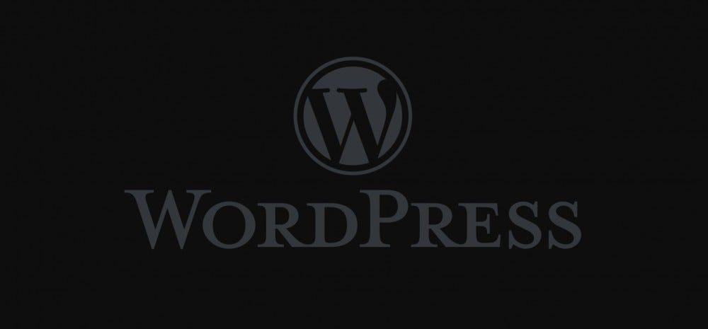 Logo WordPress en mode sombre