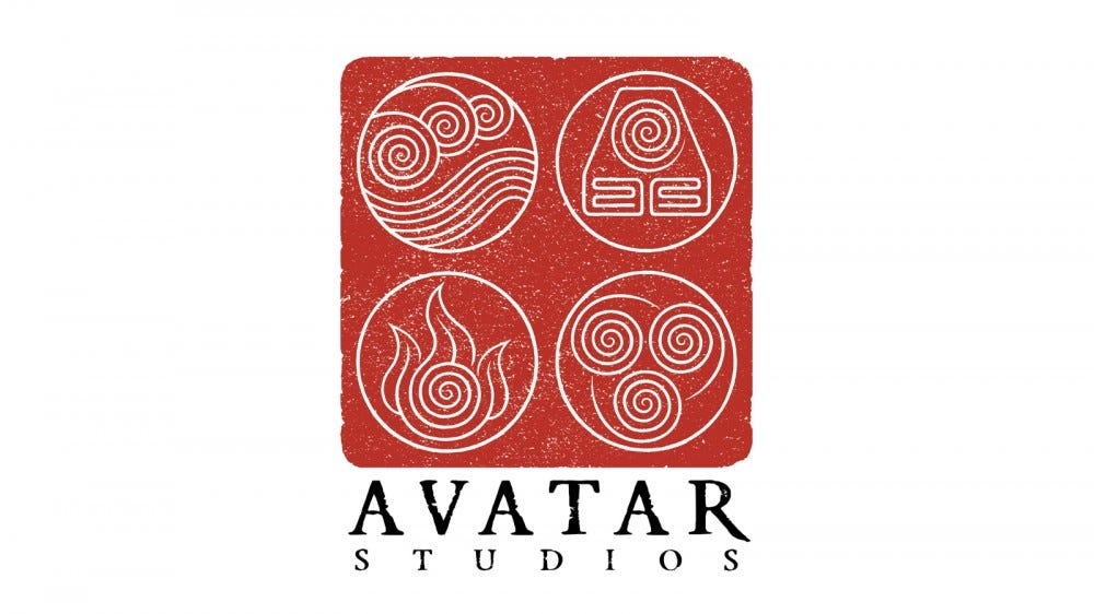 Une illustration du logo Avatar Studios.