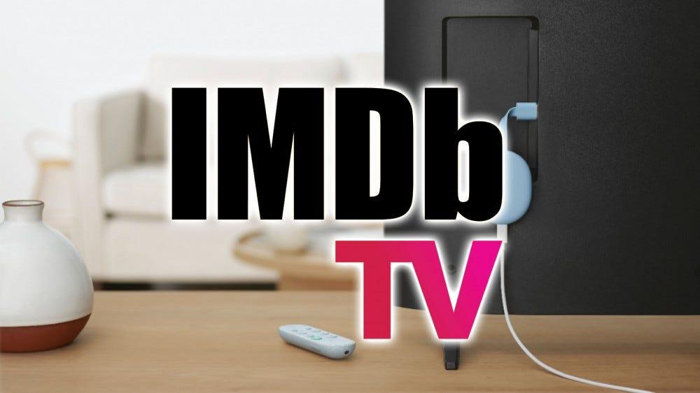 Le logo IMDb TV sur un Chromcast avec Google TV.