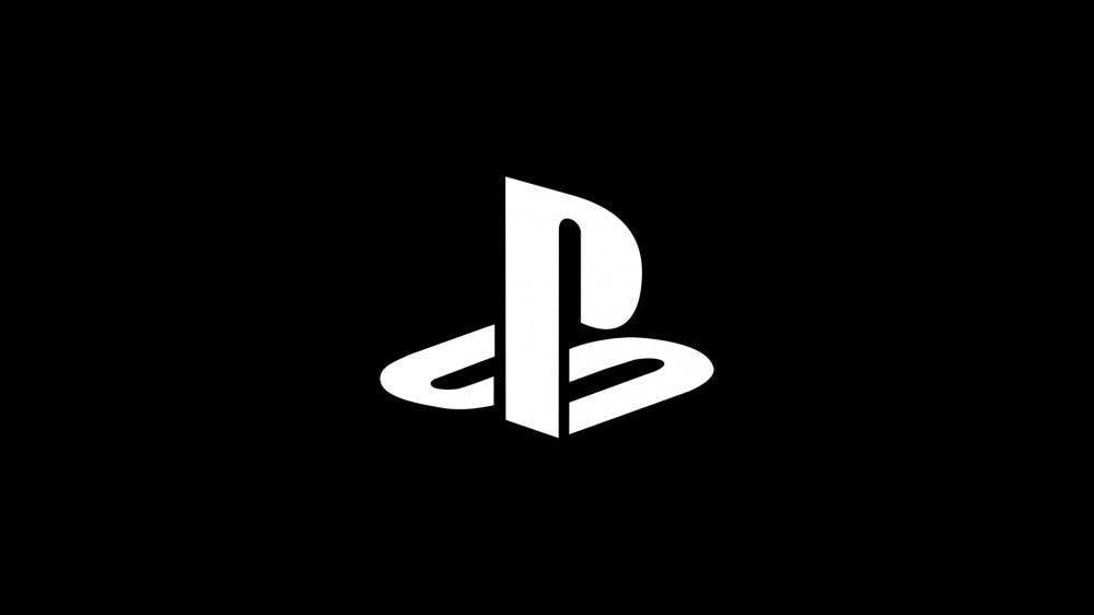 Logo PlayStation en blanc sur fond noir