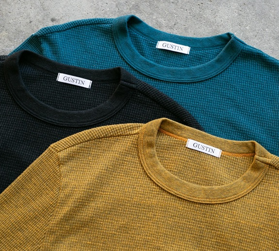 Gustin made in the USA Tri-Blend Waffle Crewneck chemises