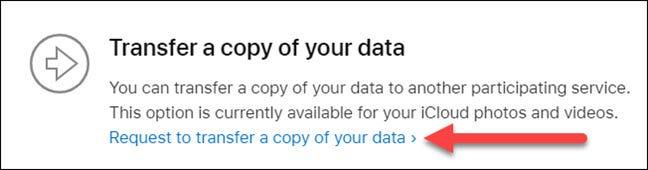 transférer une copie de vos données