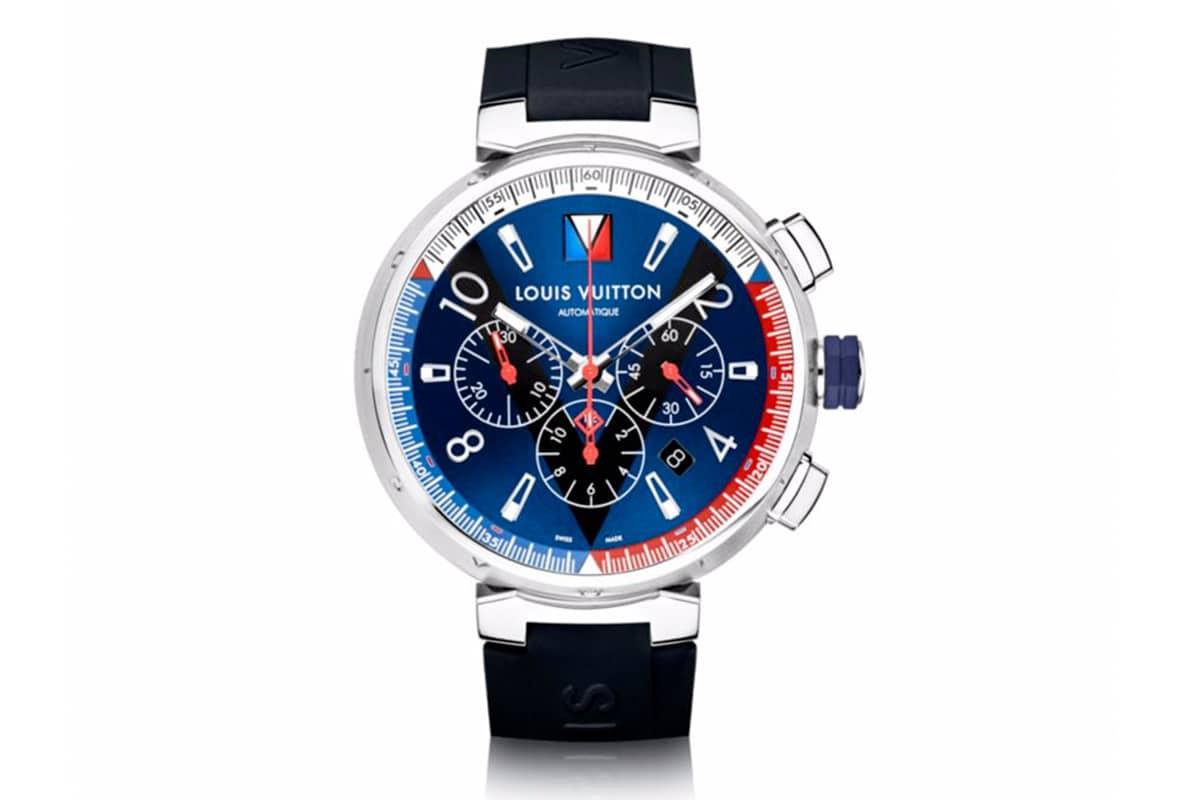 chronographe louis vuitton tambour bleu