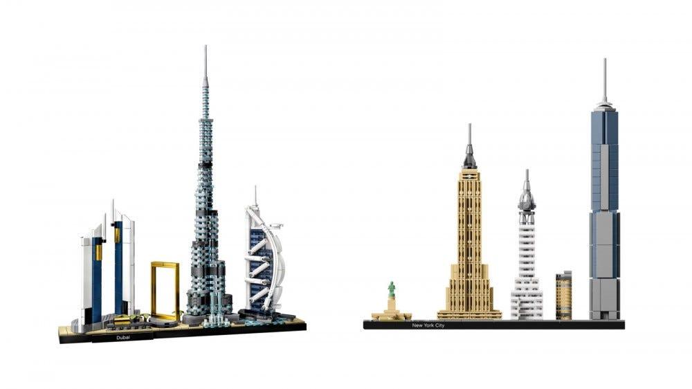 LEGO Architecture Ensembles de toits de Dubaï et New York City