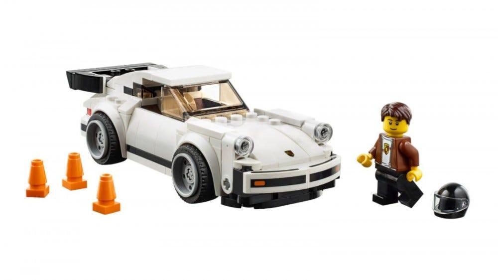 LEGO Speed Champions 1974 Porsche 911 ensemble