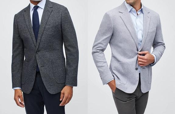 Blazers en tricot de coton italien