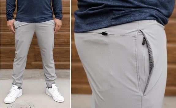 Pantalon de jogging léger Traveller en gris clair