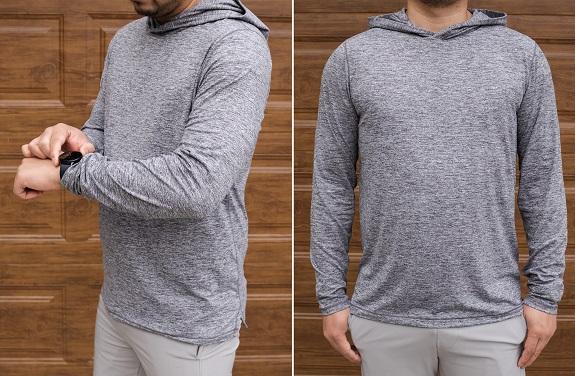 Sweat à capuche Airknit en gris chiné