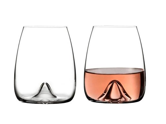 Waterford Elegance Lot de 2 verres à vin sans pied en cristal fin