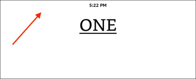 Appuyez sur la partie supérieure de l'écran sur le Kindle