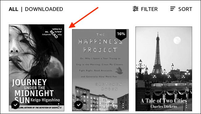 Sélectionnez un livre dans la bibliothèque Kindle