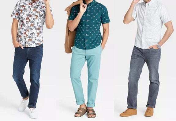 Target Goodfellow & Co. Slim Fit en popeline stretch à manches courtes boutonné