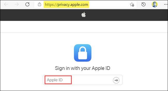 connectez-vous avec votre identifiant Apple