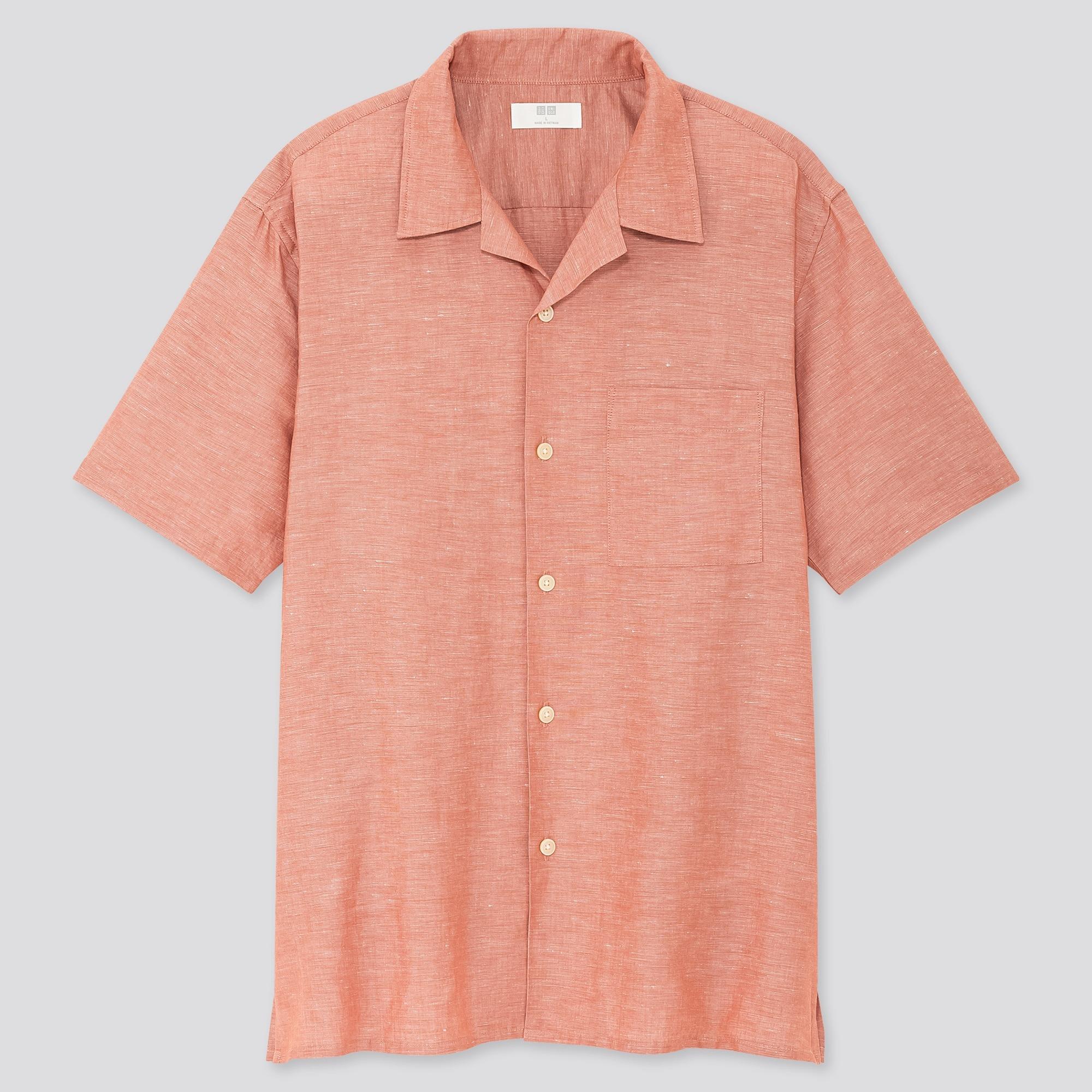 Chemise boutonnée à manches courtes Uniqlo