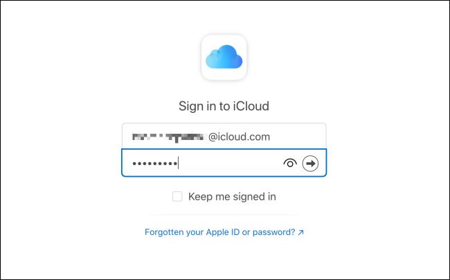 Connectez-vous à la messagerie iCloud