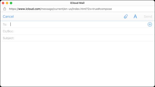 Rédiger un e-mail dans la messagerie iCloud