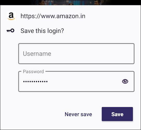 Firefox pour Android Enregistrer l'invite de connexion