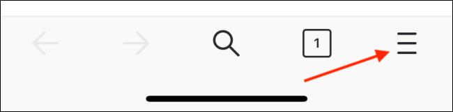 Appuyez sur le bouton Menu de la barre d'outils Firefox
