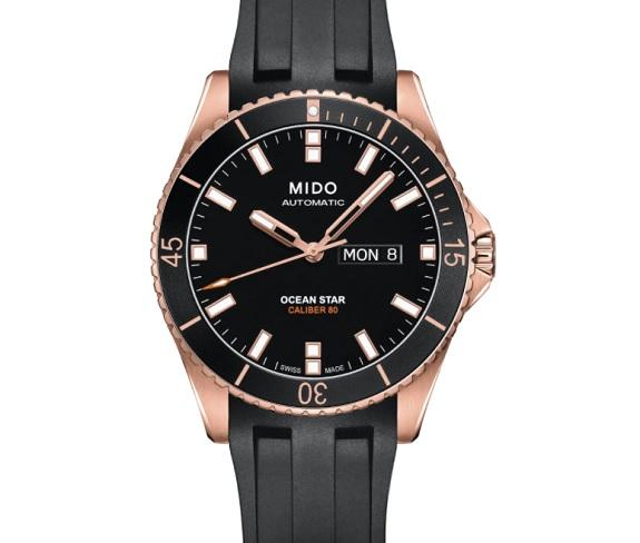 Montre Mido Ocean Star à bracelet en caoutchouc automatique