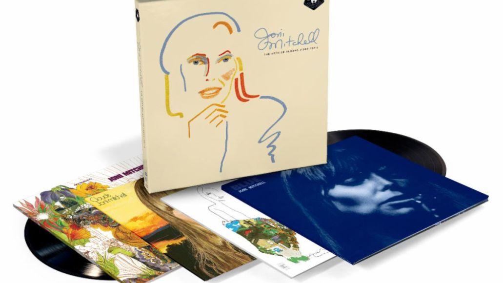 The Reprise Albums (1968-1971) par Joni Mitchell coffret album oeuvre d'art de couverture