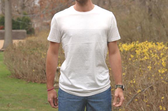 Goodfellow and Co. - T-shirt rayé à manches courtes et encolure ras du cou