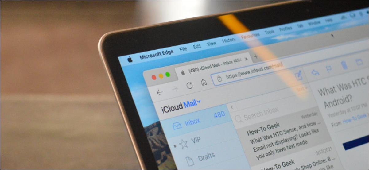 Utilisateur Apple utilisant la messagerie iCloud dans un navigateur tiers