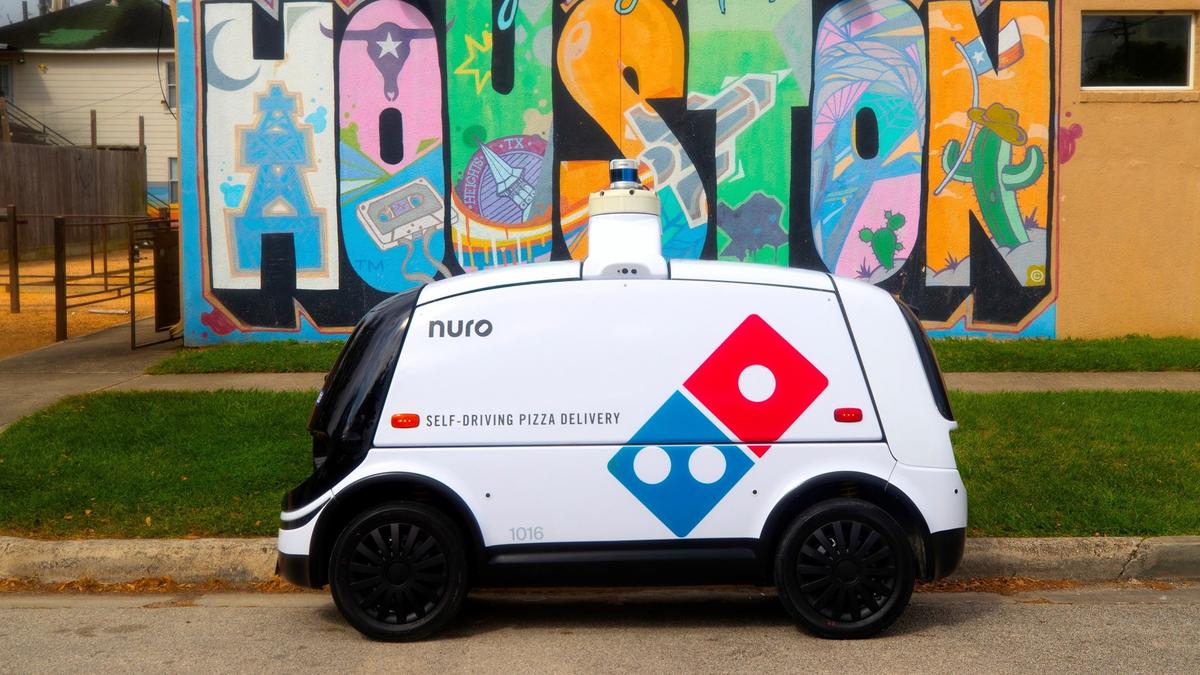 Le robot de livraison autonome de Domino.