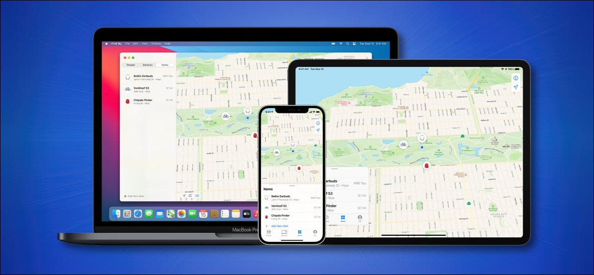 Find My Network d'Apple fonctionnant sur les appareils Apple Hero