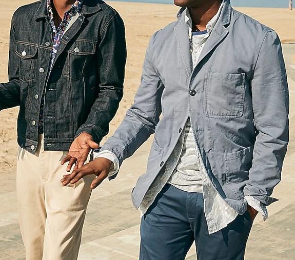J. Crew Wallace & Barnes Blazer de corvée slim fit en coton et lin