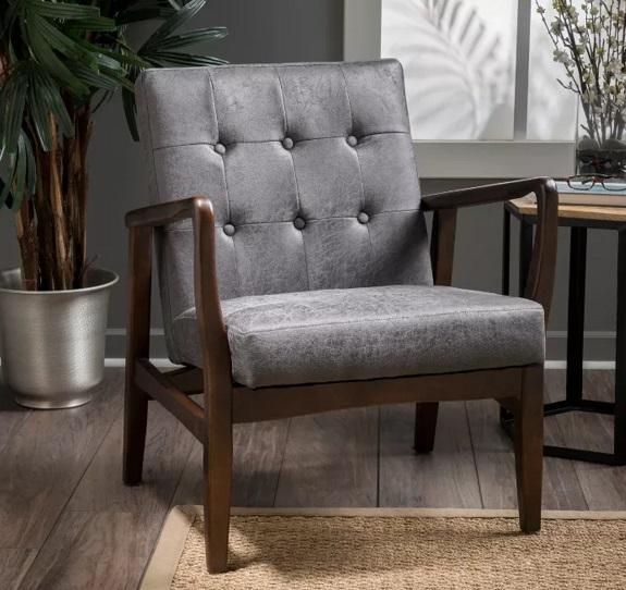 Target Callahan Mid Century Club Chair en Ardoise