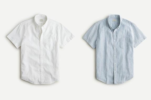 Chemises J. Crew Slim en seersucker à manches courtes