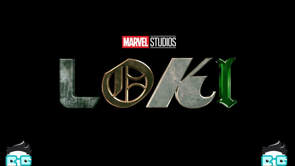 Le héros Loki avec deux mascottes RG qui jettent un œil par le bas.