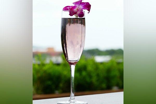 Cocktail Ciel violet