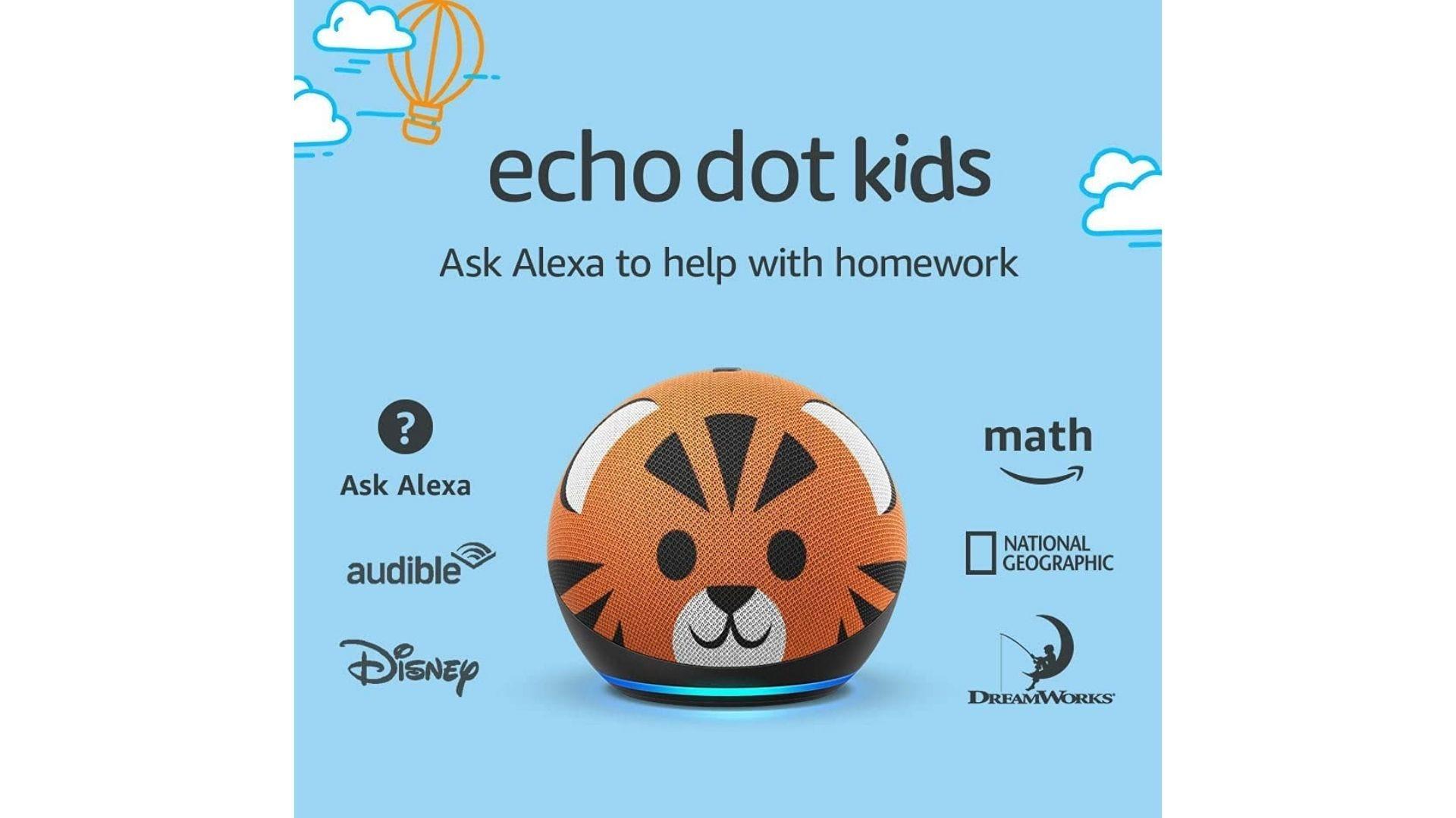 conception de tigre pour enfants amazon echo dot