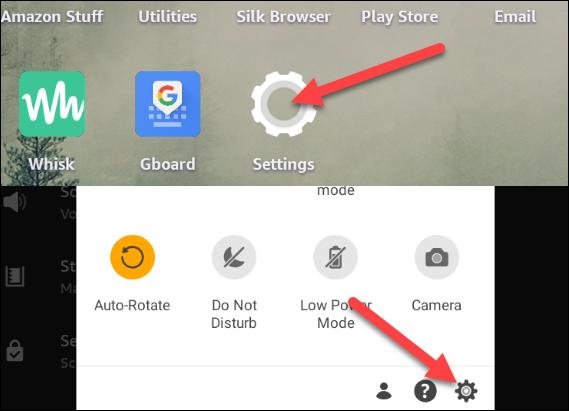 Accédez à Paramètres à partir de l'écran d'accueil ou de l'ombre des notifications.