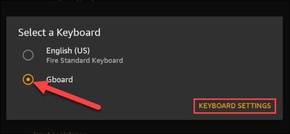 Sélectionnez le clavier nouvellement installé dans le menu.